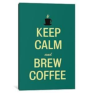 "iCanvasART 3 件套 Keep Calm & Brew 咖啡油画印刷品 Fabrizio 出品,152.4 x 101.60 cm 深 3.81 cm 40"" x 26"" KCH9"