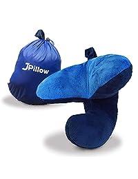 j-pillow 旅行枕全面支持 HEAD 领和引体向上 multi-patented BRITISH invention OF THE 年。 *的颈枕飞机 黑色