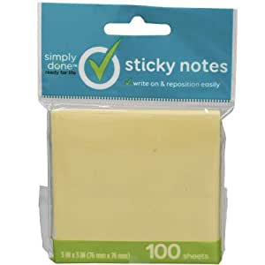 Simply Done 3x3 Sticky Notes (Pack of 16)