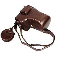 全保护底开口版本保护 PU 皮相机包适用于索尼 ILCE- 7RM3 Alpha 7R III 带 24-70mm 透镜 深棕色 Camera Bag