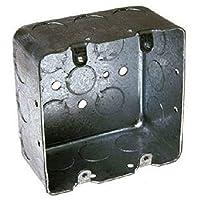 Hubbell-Raco 683 2 设备,6.35 厘米深,1.27 厘米和 1.91 厘米侧防震 10.16 厘米方形开关箱,抽屉