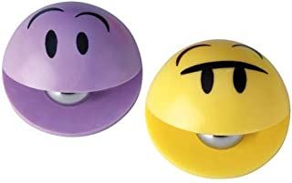 INOFIX 脸部设计胶粘纸,2 个装,紫色和黄色,泡罩包装