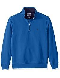 IZOD Men's Long Sleeve 1/4 Zip Performance Fleece Pullover