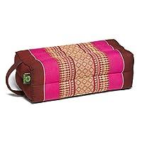 Kapok Dreams Block 垫子带手柄/绑带,瑜伽和冥想道具,* 天然 Kapok 填充物(天然植物纤维),浆果色。