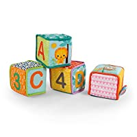 Bright Starts Grab & Stack 软块玩具,适合 3 个月以上的宝宝