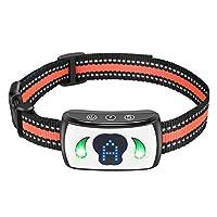 ALKD 狗狗止吠项圈,防吠项圈,4 个可调节灵敏度和人性化,防水训练项圈,适合中小型犬(白色)