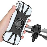 可拆卸自行車手機支架,360° 可旋轉自行車 & 摩托車車把手機支架通用適用于 iPhone Xs Max XR X 6S 6 7 8 Plus,Galaxy S9 S10 S10e Note 9,其他 4-6.5 英寸手機騎自行車