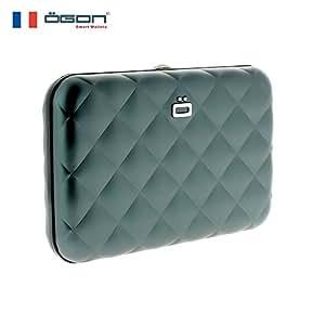 【官方直营】OGON 法国菱格卡盒~时尚范儿(原创设计 原装进口 时尚创意礼物)(银灰色)