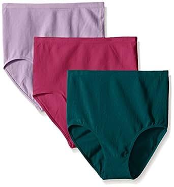 Ahh By Rhonda Shear 女士棉混纺无缝内裤 3 条装 Biscay Bay/Raspberry Rose/Lilac Large