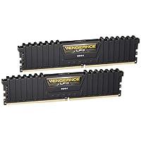 Corsair Vengeance LPX 16GB(2x8GB)DDR4 DRAM 3200MHz C16桌面内存套装 - 黑色(CMK16GX4M2B3200C16)