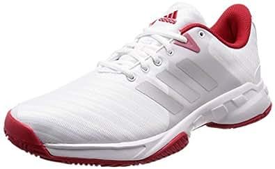 adidas 阿迪达斯 男 网球鞋 barricade court 3 CM7814 FTWR 白/暗银金属/浅猩红 39 (UK 6)
