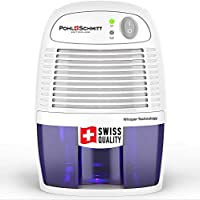 Pohl+Schmitt 緊湊型*機,17 盎司水罐,超靜音 - 小型便攜式設計,適用于家庭、地下室、浴室和臥室 - 去除空氣*,防止灰塵螨、霉菌和霉變