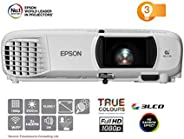 EPSON 愛普生 EH-TW650 全高清 3100 流明 Wi-Fi 家庭影院/游戲投影儀-白色