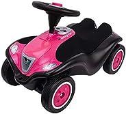 BIG - Bobby Car Next - 豪华版,儿童车,带 LED 前照灯,静音轮和柔软座椅,可承重达 50 千克,滑车适合 1 岁以上的儿童 Kinder Raspberry