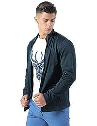 IZOD 男式 拉链卫衣秋季休闲装纯色立领加绒长袖运动开衫外套 A91173MT063