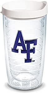 Tervis US Air Force Academy Emblem Individual Tumbler with White Lid, 16 oz, Clear
