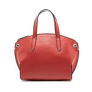 ELLE 女式 牛皮手拎单肩斜跨包 E26F1261898RD 红色 均码
