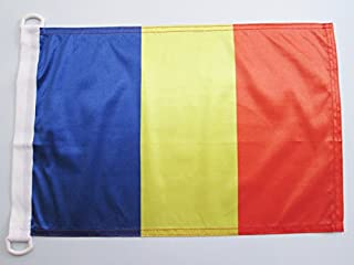 ROMANIA NAUTICAL FLAG 18 英寸 x 12 英寸 - 罗马尼亚扁平30 x 45 厘米 - 横幅 12x18 英寸 船只 - AZ FLAG
