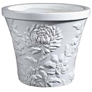 Global Pottery SD164-10 菊花盆,Happy White,10 英寸