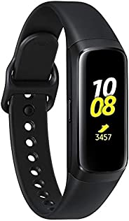 Samsung Galaxy Fit 2019,智能手表健身带,压力和*追踪器,AMOLED 显示屏,5ATM 防水,MIL-STD-810G,蓝牙主动式 SM-R370 - 国际版(银色)SM-R370  黑色