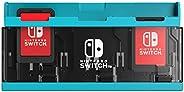 【任天堂许可商品】推纸卡套 6 for Nintendo Switch-Variation_P 霓虹蓝