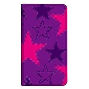 智能手机壳 手册式 对应全部机型 薄型印刷手册 cw-271top 套 手册 星星 极薄 轻量 UV印刷 壳WN-PR180687-S HONEY BEE 201K B款