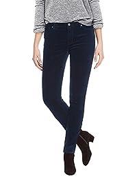 BUFFALO 女式女士中腰,拉伸,紧身,天鹅绒长裤