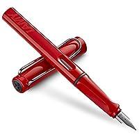 LAMY 凌美 Safari 狩猎者 F尖墨水笔 钢笔 红色 (含吸墨器) (德国品牌 保税仓发货 包邮包税)