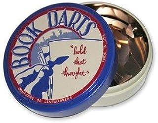 Book Darts Line Markers 50 Count Tin Bronze