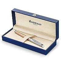 Waterman Hemisphere 豪华钢笔中号笔尖带蓝色墨盒 (2043232)