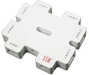 SSK 飚王 积木 SHU011 USB HUB (七孔 带电源高USB2.0 集线器)(白色)