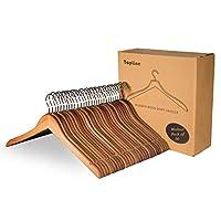 Topline 经典木制衣架 - 30 件装 胡桃棕色