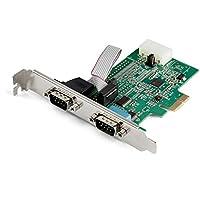 StarTech 2 端口 PCI Express RS232 串行适配器卡 - 16950 UART - 256 字节的 FIFO 缓存 - ASIX AX99100 - 全轮廓支架 - PEX2S952 (PEX2S953) 的替代品
