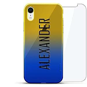 奢华设计师,3D 印花,时尚,高端,高端,Chameleon 变色效果,360 保护玻璃包手机套 iPhone Xr - Dusk Blue Tamara,现代字体名字LUX-IRCRM2B360-NMALEXANDER2 NAME: ALEXANDER, MODERN FONT STYLE 蓝色(Dusk)