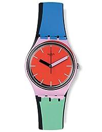 Swatch 斯沃琪 瑞士品牌 色彩密码系列 石英男女适用手表 邻边物语 GB286