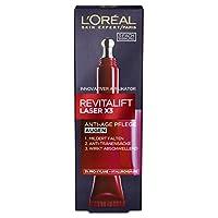 L'Oréal Paris 巴黎欧莱雅 Revitalift Laser X3 复颜光学嫩肤眼部醒活精华乳 玻尿酸锁龄眼霜,3重锁龄功用,带有冰爽涂抹球,15ml
