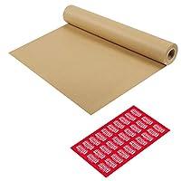 牛皮纸包装纸 - 棕色包装纸卷 - 礼品包装、发货包裹、搬运、艺术、手工艺和地板覆盖的理想选择 | 44.45 厘米 x 43.18 厘米(100 英尺)