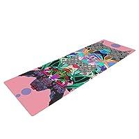 Kess InHouse Danii Pollehn 日本 Rorschach 瑜伽运动垫,多色,182.88 x 60.96 厘米
