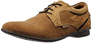 BCK (By Buckaroo) Men's Fravisto Brown And Tan Leather Shoes