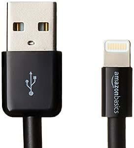 AmazonBasics 苹果认证到 USB 电线—4 英寸(10厘米)—黑色