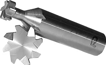"F&D Tool Company 35357 Woodruff Keyseat Cutter, Shank Type, Solid Carbide, 3/8"" 直径, 1/8"" Face Width, 2-1/4"" Total 6, 6 个槽数"