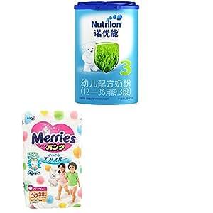 Nutrilon 诺优能 3段幼儿配方奶粉(12-36个月)800g* 1听 + 花王拉拉裤 XL38片 加大号学步裤(12-22kg)*2 包