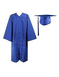RobeStore 男女通用成人哑光毕业礼服,流苏套装无吊坠,高中大学典礼