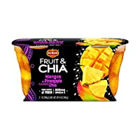 Del Monte Fruit & Chia Snack Cups, Mangos in Pineapple Flavored Chia, 2 Cups, 7-Ounce (Pack of 6)