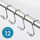 InterDesign T-Bar Shower Hooks, Set of 12, Chrome