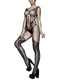 Killer 裤腿透明侧开衩性感绑带长筒袜,818JT075