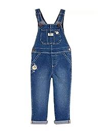 OshKosh B'Gosh Bay 女孩刺绣花连体衣带经典背心风格,尺码 9 个月,蓝色