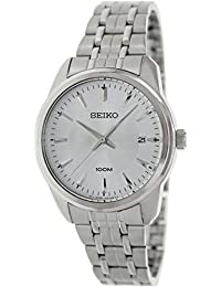Seiko Silver Dial Stainless Steel Mens Watch SGEG01