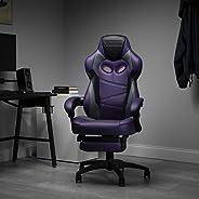RESPAWN 110 賽車風格游戲椅,可斜倚人體工程學皮革椅,帶腳踏