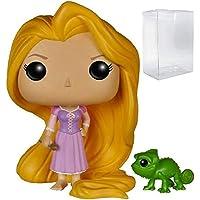 Funko POP! Disney Princess:Tangled - 長發公主和帕斯卡乙烯樹脂人偶(捆綁式流行盒保護盒)